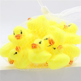 Baby Rattles Australia - 2017 New Hot Sale Little Yellow Duck Baby Bathroom Water Toy Bath Toys Infant Sound Rattle Duck DHL Free Shipping