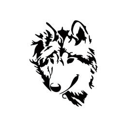 cool truck window stickers Australia - Hot Sale Cool Graphics Car Stying Vinyl Decal Werewolf Wolf Head Sticker Car Truck Window Jdm
