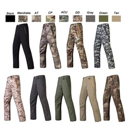 Full hunting camouFlage clothing online shopping - Outdoor Sports Woodland Hunting Shooting Tactical Camo Pants Combat Clothing Camouflage Trousers Softshell Outdoor Pants SO05