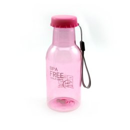 China Wholesale- Pink Color 350ML Portable Soda Water Bottle Holder Cup For Sports Travel Cycling Camping School X1 cheap water bottle holder for camping suppliers