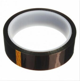 heat label 2018 - Good Quality 3pcs 33M Adhesive Tape High Temperature Heat Resistant Polyimide Tape 260-300 Degree for Electronic Industr