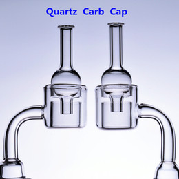 Chinese  Double Quartz Banger carb cap Nail Thermal 14mm 18mm male female 18.8mm Rigs Oil glass bong smoking Adapter Water Pipes Beaker Bowls manufacturers