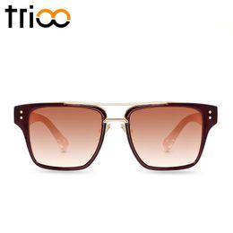 Couples Sunglasses Canada - Wholesale-TRIOO 2016 Couple Pilot Sunglasses Men Unisex Luxury Brand Designer Oculos Male High Quality Lunette Color Lens Sun Glasses