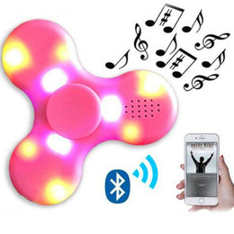 $enCountryForm.capitalKeyWord Australia - LED EDC Fidget Spinner + Bluetooth audio Led Usb charger Hand Spinner Finger spinner toys EDC Toy For Decompression Anxiety Toys DHL USZ128