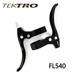 Black Brake Levers NZ - Tektro Fl540 Racing Road Bike Cycling Lever Aluminum Alloy Material 120G Pair Super Light Brake Lever With Black Silver Color