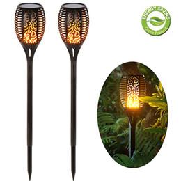 Vente en gros Éclairage extérieur de lumière de la torche solaire décoration imperméable Landsacpe LED solaire torches lumières de jardin avec effet de flamme