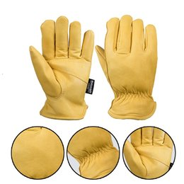 China Gloves Goat Leather Security Protection Safety Workers Working Welding -30 Warm Waterproof Gloves suppliers