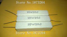 $enCountryForm.capitalKeyWord UK - Freeshipping 10W2RJ ceramic cement resistors cement resistance 10W2 lead 10 watts 2 ohm load resistor 5PCS LOT