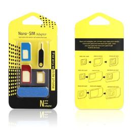 $enCountryForm.capitalKeyWord NZ - Aluminum Metal Nano SIM Card to Micro SIM Card Standard Adapter Converter Eject Pin Set 5 in 1 For Smart Phone Cell Phone Galaxy S5 S6 Edge