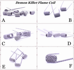 Pre built coils for rda online shopping - 100 Authentic Demon Killer Flame Coil Prebuilt Wire L Pre built Heating Premade Wires Types Resistance For DIY Vape Atomizers RDA eCig