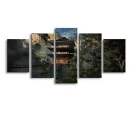 $enCountryForm.capitalKeyWord NZ - 5 Panel pagoda Painting Canvas Wall Art Picture Home Decoration Living Room Canvas Print Modern Painting--Large Canvas Art Cheap SD-010