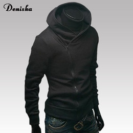 Assassin Creed Veste Coton Pas Cher-Vente en gros-2016 nouveaux sweat-shirts à capuche assassin creed casual coton à capuche zipper vestes hip-hop vêtements sweat-shirts