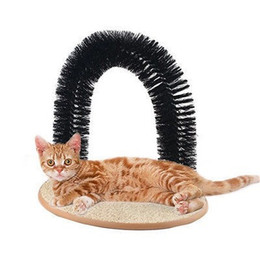 Toy Arch NZ - new pet Arch Pet Cat Self-Groomer and Massager With Round Fleece Base Cat dog Toy Brush Pets Toys Purrfect Scratching Devices h107