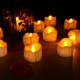 Flameless candles Free shipping online shopping - Flameless Candles Electric Amber Yellow Candle LED Tea Light Home Dinner Room Wedding Party Decoration ZA3788