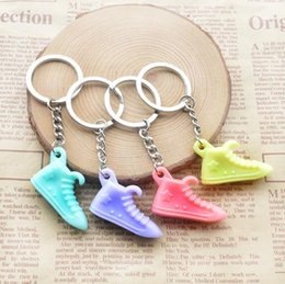 wholesale sports shoes NZ - Sports Shoes Key Chain Creative Key Accessories Pendant Cartoon Key Chain A Variety of Colors, Random Delivery