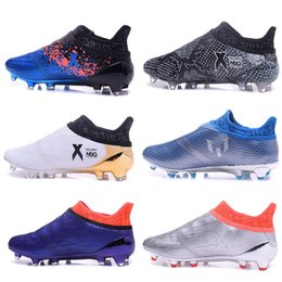 Discount messi 16 pureagility boots original mens outdoor Football Boots X 16+ PureChaos FG AG Soccer Shoes for men Messi Pure chaos 16 Pureagility NSG Socc