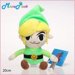 Vente en gros 20 cm Anime Légende de Zelda Peluche Poupée En Peluche Jouet Vers Le Ciel Épée Zelda Lien En Peluche Poupées Bons Enfants Cadeau Jouet