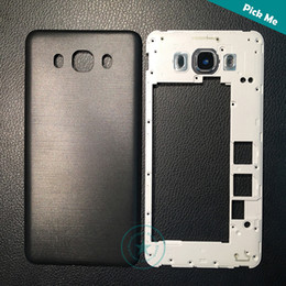 middle frames housing NZ - Top Quality For Samsung Galaxy J7 2016 J710 Middle Frame Bezel Plate+Battery Cover Back Housing Door+Logo White Black Gold Color