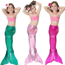 $enCountryForm.capitalKeyWord Canada - Multicolor Kids Mermaid Tail Bikini Set Mermaid Swimsuit Cosplay Swimming Costume Swimwear Fish Tail Beachwear Bathing Suit Girl swimsuit