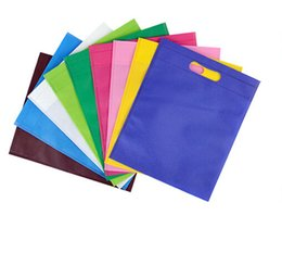 $enCountryForm.capitalKeyWord Canada - Wholesale- hot sale 80gsm non woven shopping bag,non woven bag,customers logo is available,12 colors and 5 sizes for your choice 300pcs l