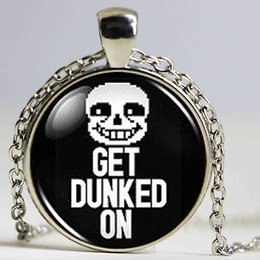 Get toys online shopping - Undertale Sans Get Dunked On Game Gamer Gaming Mens Fashion Necklace brass silver Pendant steampunk Jewelry Gift women toy chain