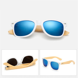 China Wholesale- Vintage Bamboo Wood Sunglasses Mens Retro Wood Legs Sun glasses Men Women Brand Designer Driving Goggles Eyewear UV400 Shades cheap wood sunglasses wholesale suppliers