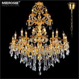 $enCountryForm.capitalKeyWord NZ - Luxurious Gold Large Crystal Chandelier Lamp Crystal Lustre Light Fixture 29 Arms Hotel Lamp Hanging Chandelier Lighting