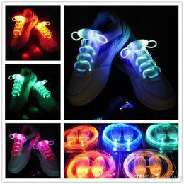 String Shoelaces Australia - 20pcs(15 Pairs) Nice Vogue Light Up Led Shoelaces Fashion Flash Disco Party Glowing Night Sports Shoe Laces Shoe Strings Multicolors