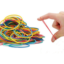 Nuovi 100 pezzi / pacchetto Colorful 40mm Rubber Bands Alta qualità Natural Rubber Band Home Food Kid Hair Package Office Rubber Brands
