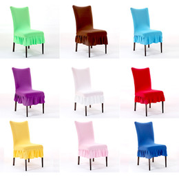 Wholesale 8 xy Fashion Multicolor Folds Skirt Chair Covers Office Computer Half Seat Chairs Cover Elastic Thicker Hot Sale High Quality
