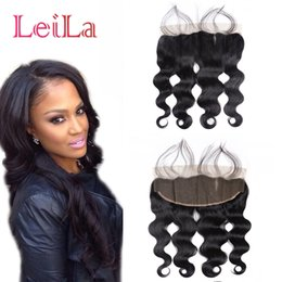 Discount cheap virgin hair closures - Cheap 7A Malaysian Body Wave Lace Frontal Closure With Baby Hair 13X4 Virgin Human Hair Full Lace Frontal Body Wave