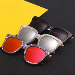 Discount stones sunglasses - New v brand stone pattern sunglasses men and women general Color film reflective mirror dazzle color leisure sun glasses