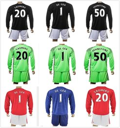 86697b895 ... 2016-17 Long Goalkeeper United Kits Goalkeeper Soccer Jersey 1 David De  Gea 20 S 17 2018 ...