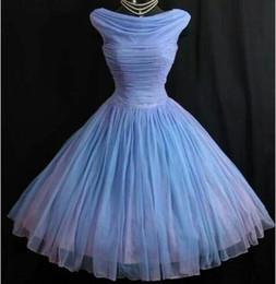Venta al por mayor de 1950's 50s Vintage Vintage Vestidos de dama de honor lavenda imagen real Vestidos de fiesta cortos vestidos de fiesta vestidos de fiesta vestidos Vestidos para Festa Envío gratis