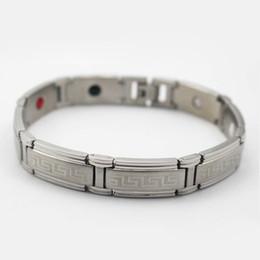 Stainless Steel Power Bracelet NZ - New 4 in 1 Stainless Steel Magnetic Germanium Engergy Power Bracelets Healthy bracelet men Wholesale Jewelry High Quality