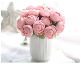 China Free shipping 4colors Artificial flower buds Silk Flower Arrangement Wholesale weddding or Home Room decoration suppliers