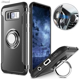 Cell Phone Cases For Samsung Galaxy Canada - Shockproof Cases Armor Case For Samsung Galaxy S8 S8 plus Hybrid Dual Layer With Ring Kickstand Magnet On Car Holder Cell Phones Cases
