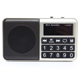 Sw Pack Australia - Wholesale-L-238SW Multifunctional TF Card USB Music Speakers Portable Digital Full Band FM   MW   SW Radio Player Receiver Support MP3