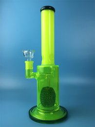 Water Pipe Types Canada - Bright yellow Glass Water Bongs Pipes straight Type Recycler Filter Percolators Smoking Hookah Glass Water Pipe bongs