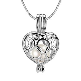 $enCountryForm.capitalKeyWord Canada - Gift Box 6-7mm Round Akoya Cultured Pearl 18 Inch with 925 Silver Olympic Rings Heart Pendant Necklace