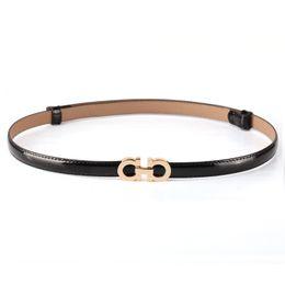 Summer Fashion Women Luxury Belts Female Patent Leather Designer Slim Dress Belt Ladies Rose gold Buckle Waist Belts from blue bee flowers suppliers
