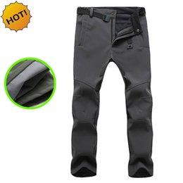 3042ca82aa769 HOT 2017 Outdoor Winter Thicken Polar Fleece Thelmal Slim Fit Soft Shell  Camo Tactical Waterproof warm Pants cargo Men Solid Trousers