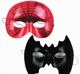 cosplay for children UK - Black or red non-woven Spider masks or bat movie cartoon person for halloween party Holiday Party mask 20g cosplay Festive & Party Supplies
