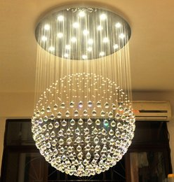 Modern K9 Large LED SphericLiving Room Crystal Chandeliers Lighting Fixture For Round Indoor Lamp Showcase Bedroom Hotel Hall LLFA