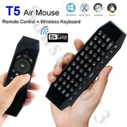 T5 Tv Canada - Smart Remote Control Mic Air Mouse Mini Keyboard T5 Wireless Keyboards for Android TV Box Mini PC IPTV 360 Xbox Gamepad PS3 Linux Mac OS