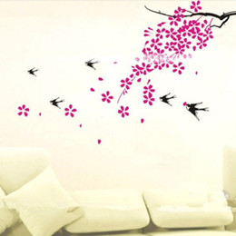 Design wall tree online shopping - Home Decor Wall Stickers D Tree Plum Decals Decorative Poster for Kids Rooms Adhesive To Wall Decoration Removable with Decals