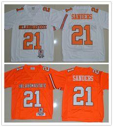 best service dc4e2 815c0 oklahoma state cowboys 21 barry sanders orange throwback ...