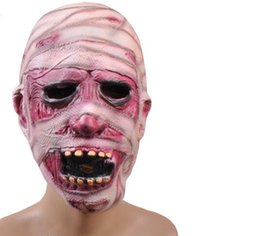 China Halloween Horror Mask Party Decorating Props Super Horror Zombie Mummy Zombie Mask Halloween Adult Mask Bloody Scary Extremely Disgusting suppliers