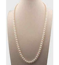 17 gold NZ - Gorgeous 7-8mm Pearl Necklace Natural South Seas White Beaded Necklaces 17 Inch 14K Gold Clasp