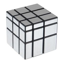 Wholesale 3x3x3 mm Wire Drawing Style Cast Coated Magic Cube Challenge Gifts Puzzle Mirror Cubes Educational Toy Special Toys